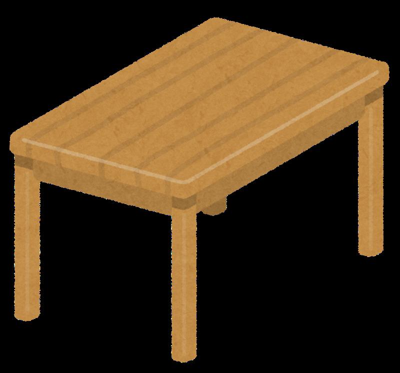 あの食卓の四角/長方形のテーブルイメージ