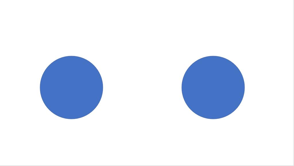 円を2つ描く